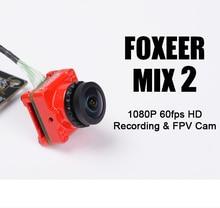 Камера Foxeer Mix 2 /1080p 60fps Super WDR Mini HD FPV, переключаемая камера 16:9 4:3 PAL/NTSC, крепление 20*20 & 30,5*30,5 мм для FPV гонок