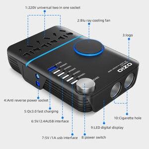 Image 3 - 200W Car Power Cigarette Lighter Inverter DC 12V To AC 220V Converter Charger Adapter Transformer Lighter Socket USB Output