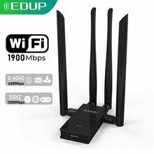 EDUP 1900Mbps USB WIFI Adapter Dual Band 2.4G/5Ghz 4*6dBi Antennas Converter Desktop Wireless WIFI USB 3.0 Network Card Receiver