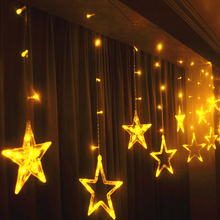 YINUO LIGHT LED String Lights Pentagram Star Fairy Curtain Wedding Birthday Christmas Holiday Lighting Indoor Decoration
