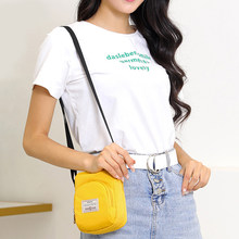 2019 Mini Shoulder Bags Crossbody Messenger Bags Nylon Casual Street Soft Phone Mini Purse Zipper Purses And Handbags(China)