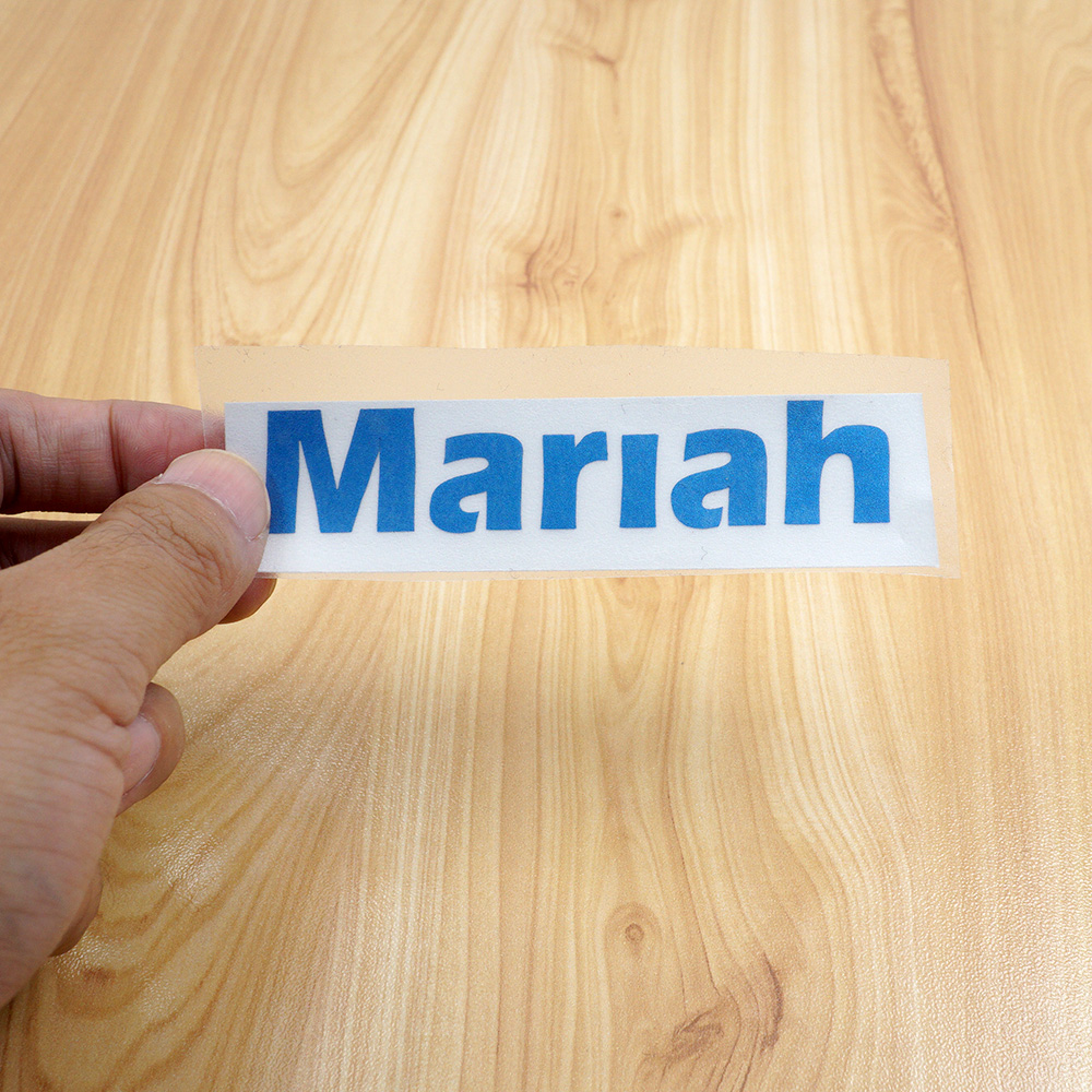 1Pcs Vinyl Custom Name Sticker Colorful Personalised Cuting Label Matt PVC Waterproof Die Cut Tag For Personal Item Sticker