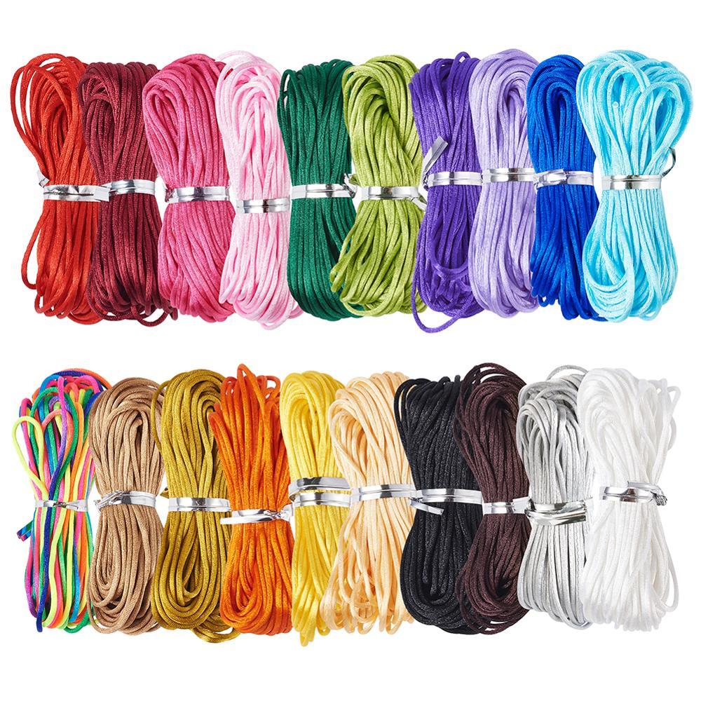 Нейлоновая нить 1 мм, нейлоновый шнур для ювелирных изделий, плетеный шнур для изготовления ювелирных изделий своими руками, разноцветные б...