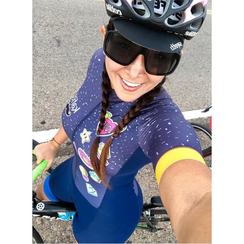 Macaquinho Ciclismo das mulheres triathlon manga curta camisa de ciclismo define skinsuit maillot ropa ciclismo bicicleta jérsei roupas ir macacão macacão ciclismo feminino kafitt conjunto ciclismo roupa de ciclismo 21