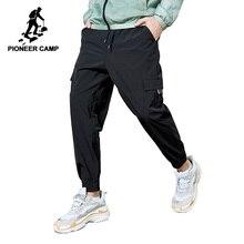 Pioneer CampยุทธวิธีชายกางเกงหลวมJogger Casual Plusขนาดกางเกงผ้าฝ้ายพร้อมกระเป๋าHarenชายกางเกงAXX908027