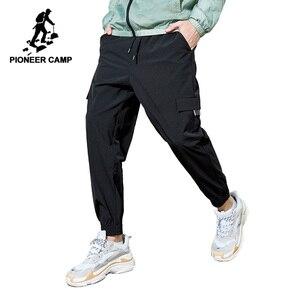 Image 1 - Мужские тактические брюки Pioneer Camp, повседневные свободные джоггеры размера плюс, хлопковые брюки с карманами, шаровары, AXX908027
