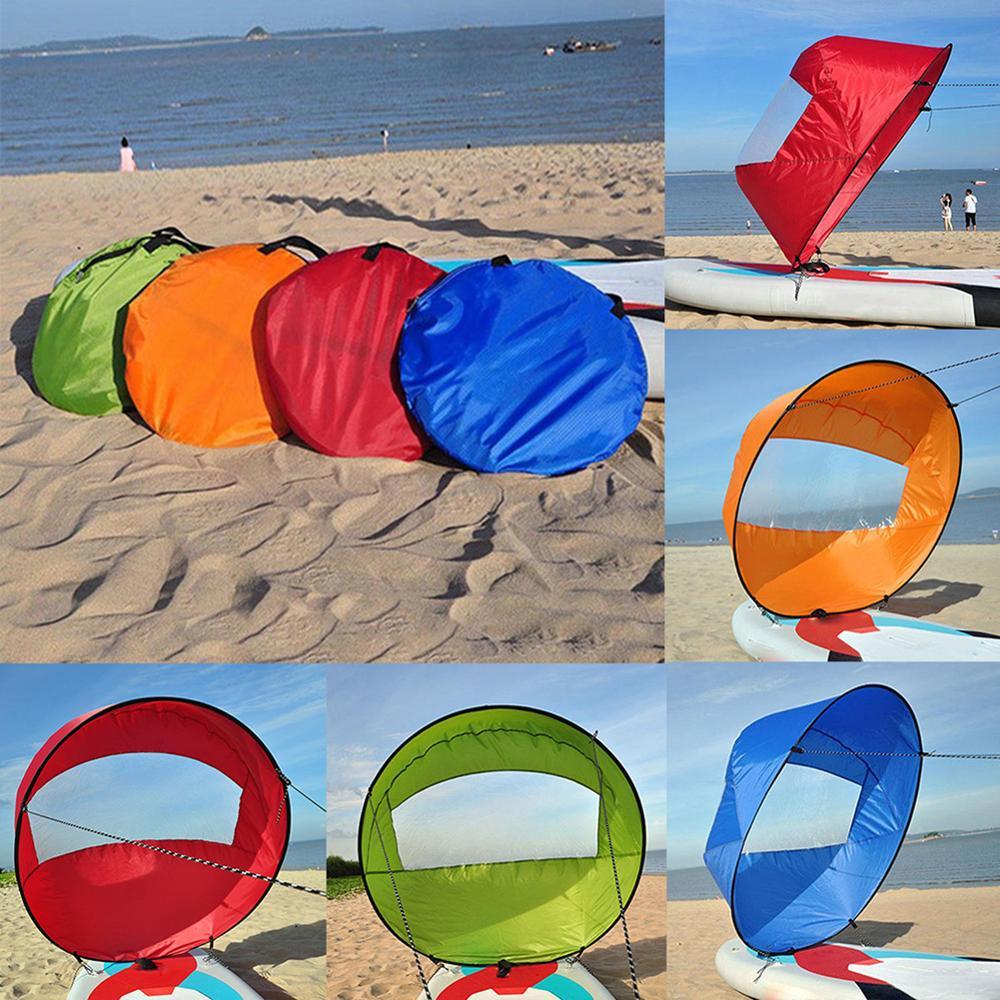 Foldable Kayak Boat Wind Sail Summer Surfing Wind Paddle Kayak Sail Durable Downwind Paddle Rowing Boats Wind Window Drop Ship