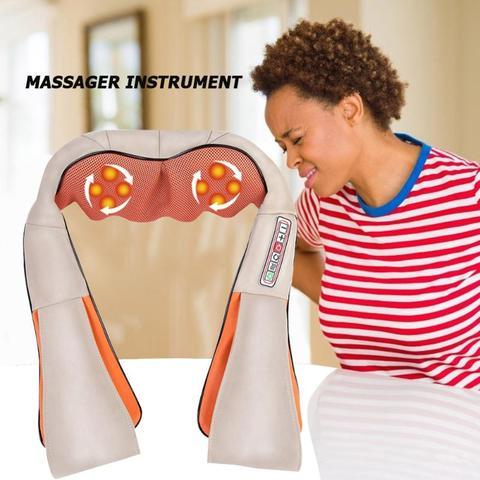 massagem eletrica shiatsu pescoco ombro infravermelho aquecido
