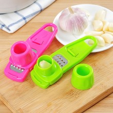 Stainless Steel Garlic Press Vegetable Cutter Helper Home Kitchen Gadgets Utensils Accessories