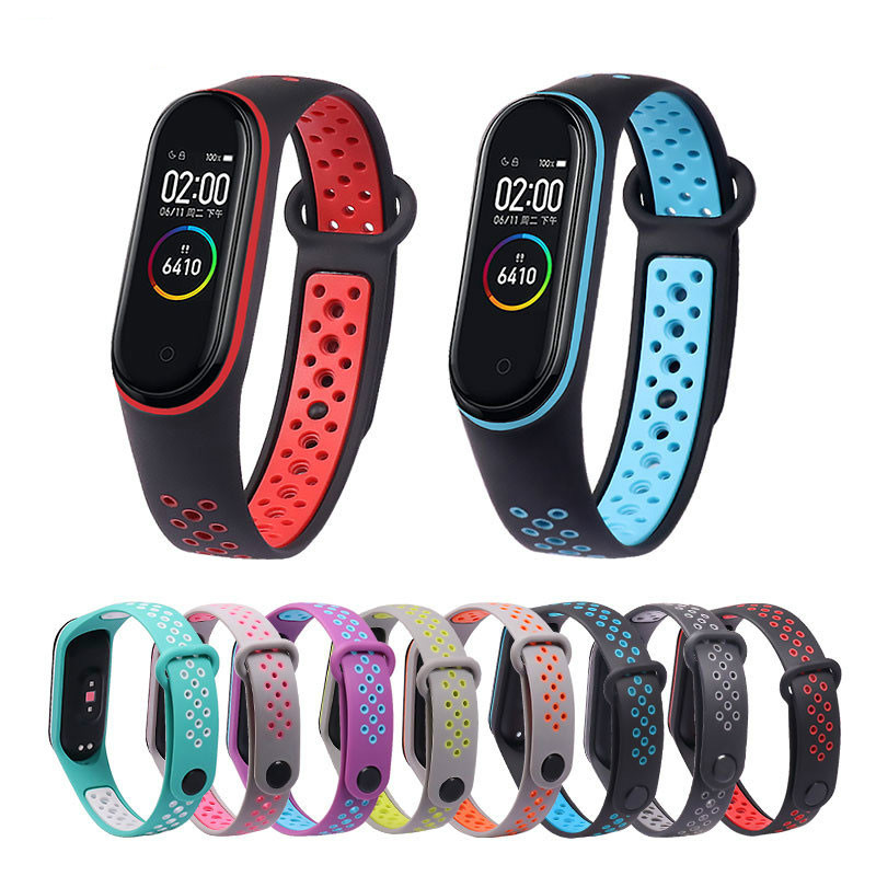 Breathable Strap For Xiaomi Mi Band 3 4 Smart Watch Wrist M3 M4 Plus Bracelet For Xiaomi MiBand 3 4 Miband Strap Replacement(China)