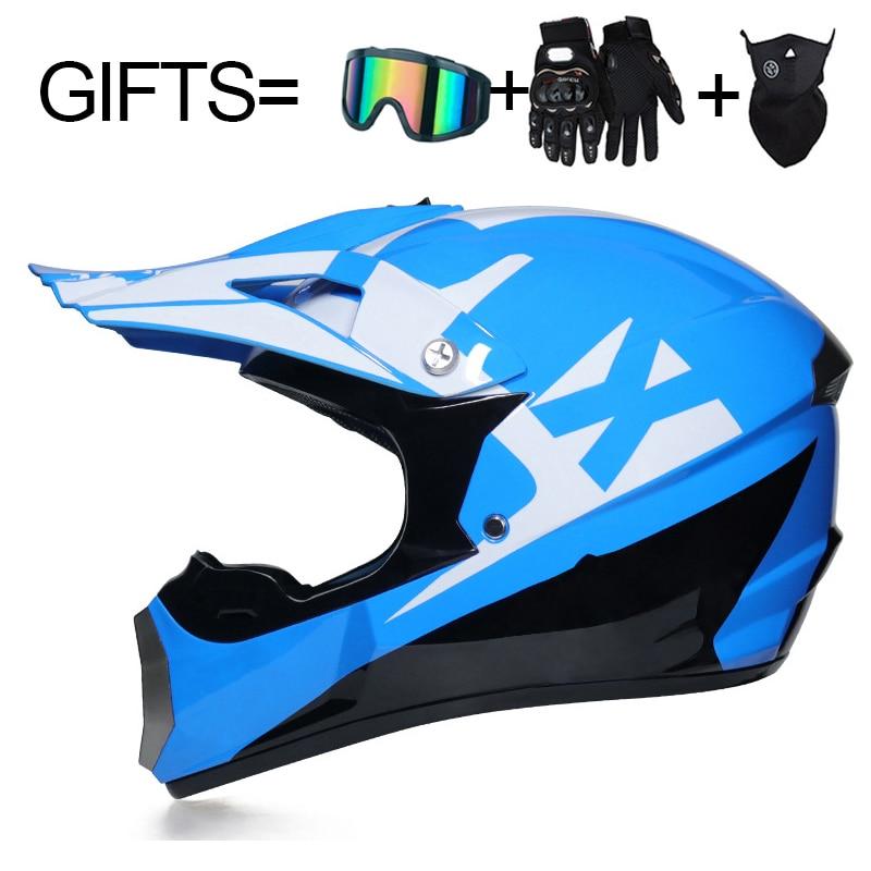 3 Gifts Racing Off-road Full Face Motorcycle Helmet Dot Motocross Motorbike Dirt Bike Helmet Moto Casco Vintage Casco Moto