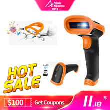 Radall Wireless Barcode Scanner Kabel Bar Code Scanner Scan Otomatis Handheld 1D/2D QR Code Reader untuk Persediaan Pos terminal(China)