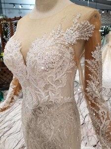Image 5 - BGW HT43025 Свадебные платья русалки тяжелые Свадебные платья ручной работы с кристаллами Длинные трубы 2020 модный дизайн со съемным шлейфом