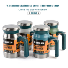 Outdoor stainless steel vacuum flask tea cup filter double-layer office water cup with handle new camping mug Thermos cup cheap LDFCHENNEL CN(Origin) LIA025 Eco-Friendly Stocked Large capacity Business Vacuum Flasks Thermoses Belly Cup CE EU LFGB