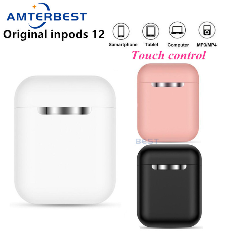 AMTERBEST Original inPods 12 TWS Wireless Headset Touch Key Bluetooth 5 0 Sport Earphone Stereo Headphone for Smartphones PK i12