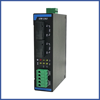 CAN Bus Fiber Optic Ring Network Optical Transceiver CAN to Fiber Optic Transceiver Optical Fiber Self-healing Ring Fire Fightin image