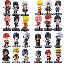 6 unids/lote Naruto Shippuden Anime-dibujos cifras Kakashi Hinata Uzumaki Sakura Itachi Gaara Jiraiya de PVC Anime modelo de Naruto Juguetes