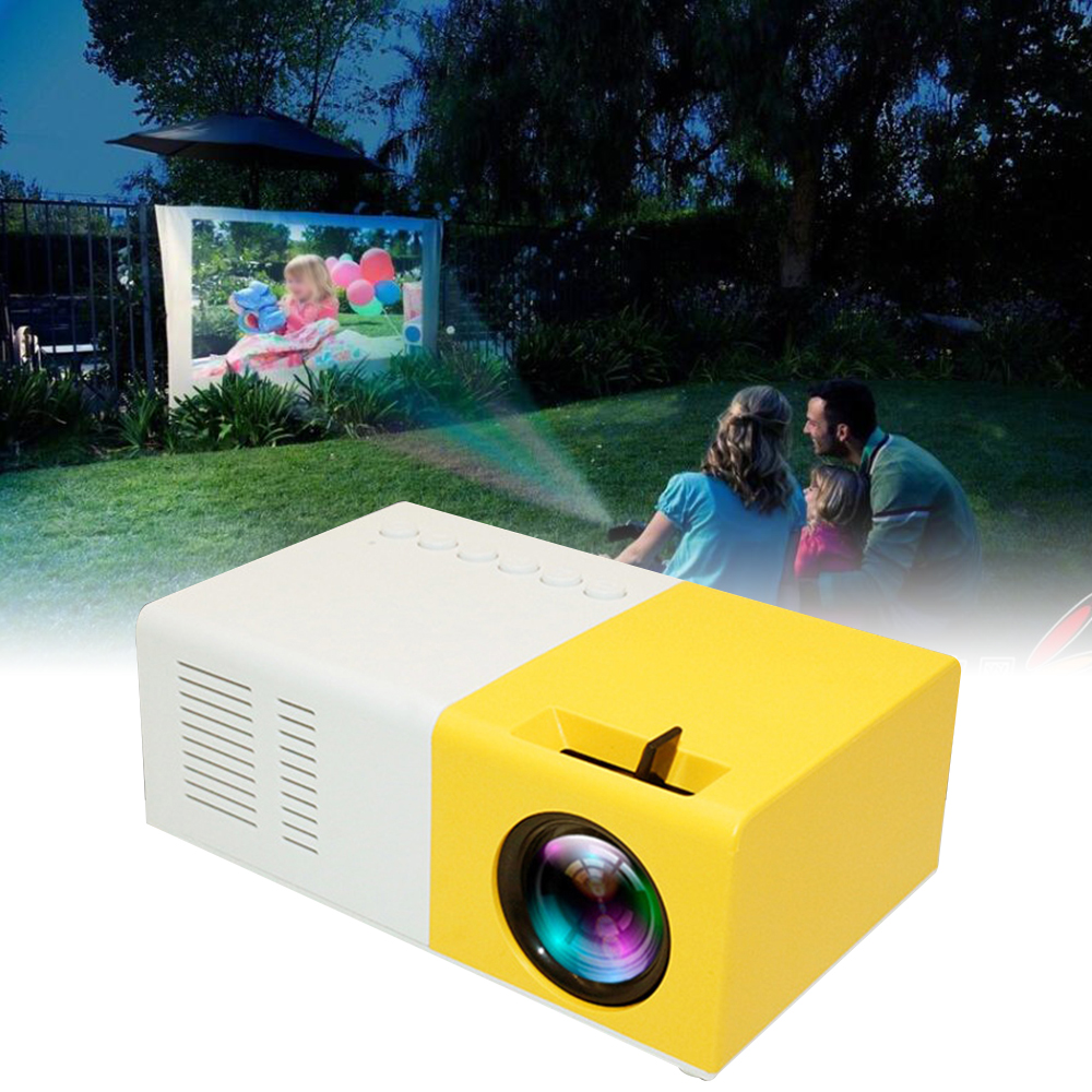 <font><b>LED</b></font> Projector 600 lumen 3.5mm Audio 320x240 Pixels <font><b>YG</b></font>-<font><b>300</b></font> HDMI USB Mini Projector Home Media Player 3 image