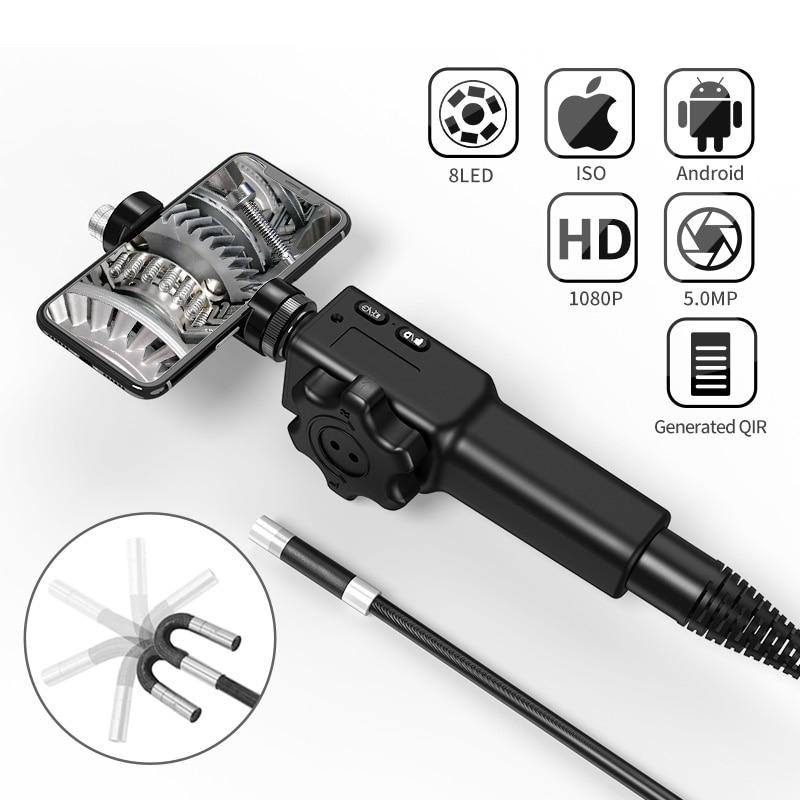 5,5 мм/8,5 мм 180 МП промышленный бороскоп рулевого управления эндоскоп камера для осмотра автомобилей с 6 светодиодами для iPhone Android