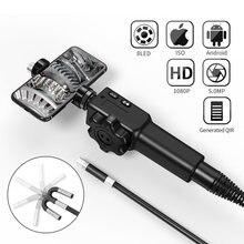 5.5MM/8.5MM 5.0MP 180 derece direksiyon endüstriyel Borescope endoskop araba muayene kamera ile 6 LED için iPhone android