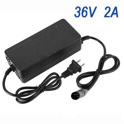 36/48V 2A inteligentna ładowarka pojazdów elektrycznych E rower ładowarka do akumulatorów litowo jonowych rower elektryczny komponentów i części na