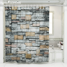 Bathroom Shower Curtain Best-Price Waterproof Eco-Friendly Thickened 3D Shower Curtains Bathroom Bath Curtain Old Brick Wall Art все цены