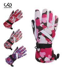 WOSAWE Winter Women #8217 s Skiing Gloves Touch screen Warm Snowboarding Ski Gloves women Snow Mittens Female ski gloves Skiing cheap Polyester Women s Skiing Gloves Cotton Flannel PVC About 300G 0 66LB Multi color for choose Size Free size Skiing Skating Skateboard Cycling Motorcycle etc