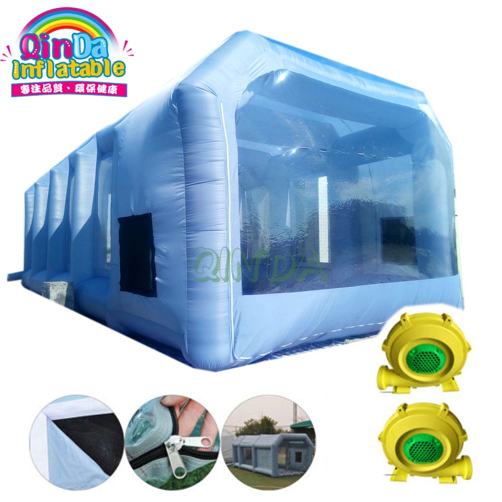 Automobile Car Workstation Inflatable Spray Paint Booth With 2 Blowers
