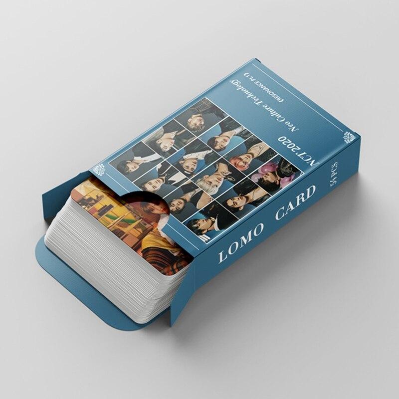 54 шт./компл. Kpop NCT новый альбом резонансный Pt.1 Фотокарточка самодельные фотокарточки фотография LOMO карточка канцелярские товары