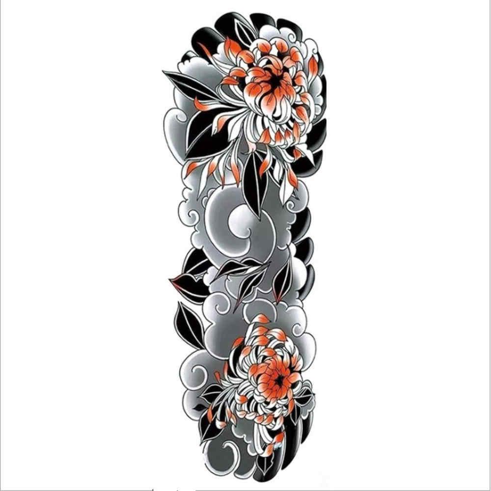 Su geçirmez geçici dövme etiket tam kol büyük boy sahte dövme dövme kollu dövme erkekler kadınlar için yeni varış