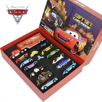 Disney Pixar3 Metal 1:55 Alloy Car Model Toy Gift Box Set Lightning McQueen And Mater, Sally, Raymond Child Boy Gift
