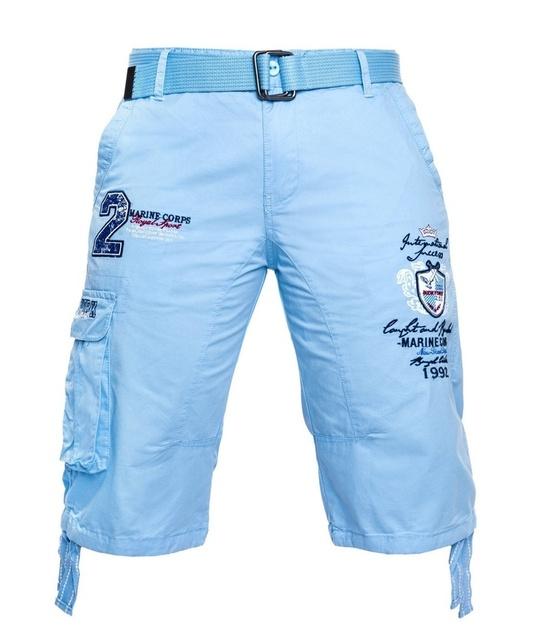 Men Shorts Casual Printed Straight Knee-length