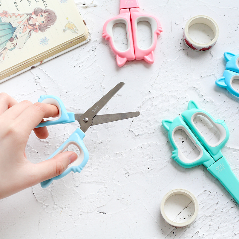 Cute Craft Paper Portable Utility Scrapbook Kids Safety Mini Scissors School Office Supplies