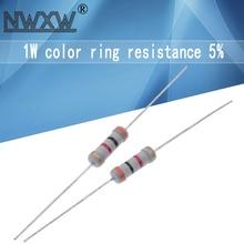 Пленка металлического резистора 5% 4,7 R ~ 1M 10R 22R 47R 100R 330R 47 22 10 1K 100K 330K 470K 100K 1 2 10 22 47 330, 20 шт.