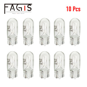 Fagis 10pcs Car T10 Halogen W5W 194 158 Wedges 12v 5w Auto Lamp Warm White Bulbs Instrument Light Reading Lights Clearance Lamp