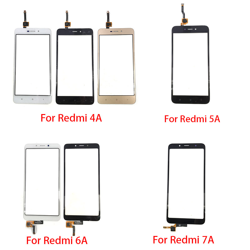 New For Xiaomi Redmi 4A 4X 5A 6A 7A Touch Screen Glass Panel Digitizer Sensor Touchpad Front Glass Panel Repair Spare Parts
