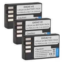 2000mAh D-Li109 D Li109 DLi109 Bateria Recarregável para Pentax K-70 K70 K-50 K50 K-30 K30 K-S1 KS1 K-S2 KS2 K-r Câmera Digital