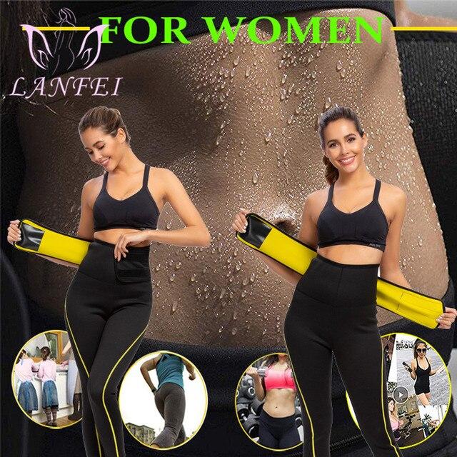 LANFEI Neoprene Waist Trainer Belt Women High Waist Legging Shaper Pants Sauna Slimming Sweat  Gym Capris Hot Thermo Sweat Pant 4