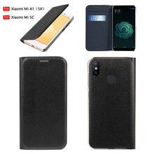 Flip kapak deri telefon kılıfı için Xiaomi Mi 5X A1 koruyucu Xiaomi Xiaomi 5C Mi5C MiA1 Mi5X kredi kartı ile cep yuvası cüzdan