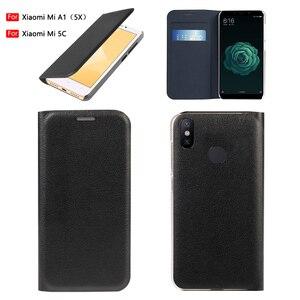 Image 1 - Virar Capa de Couro Caso de Telefone Para Xiaomi Mi 5X A1 Protetor Xiami Xiomi 5C Mi5C MiA1 Mi5X com Cartão de Crédito slot de Carteira de bolso