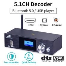 HD915 HDMI 5.1CH Bộ Giải Mã Âm Thanh Bluetooth 5.0 Reciever Đắc DTS AC3 FLAC APE 4K * 2K HDMI HDMI Máy Hút Chuyển Đổi SPDIF Vòng Cung