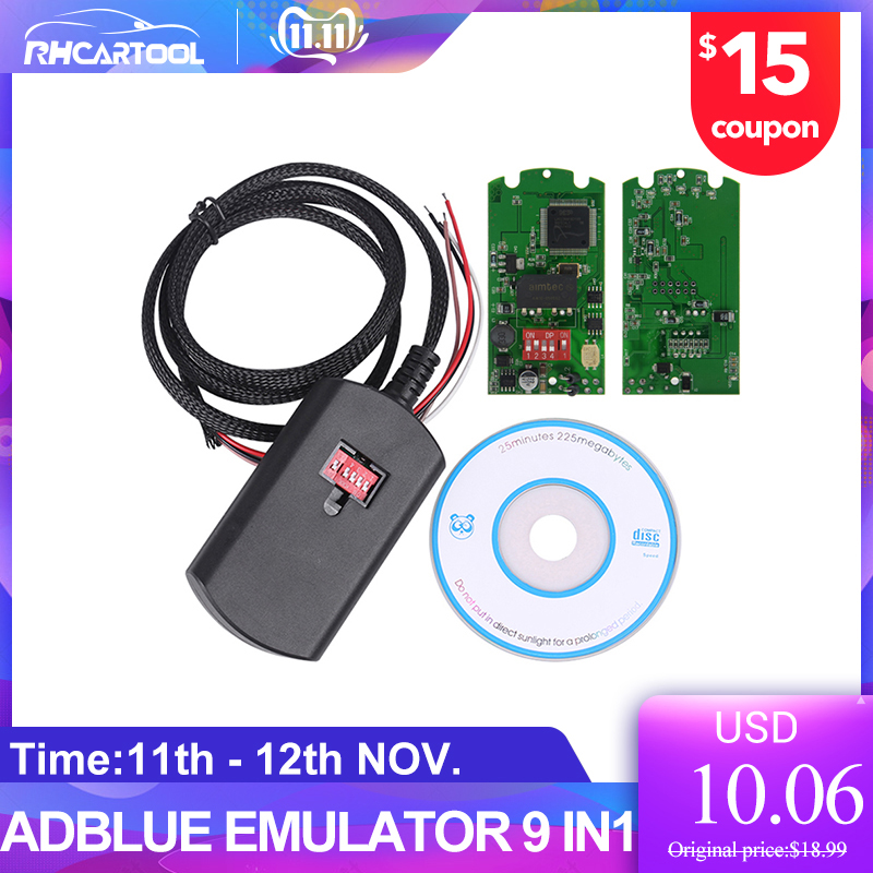 2019 New Car Styling Adblue 9in1 Super Adblue Emulator 9 In 1 Add For Commins Truck Better Than Adblue 8in1 With Free Shipping
