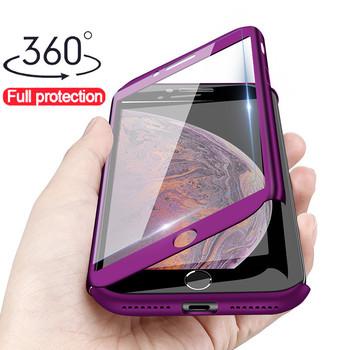 360 pełna ochronna obudowa telefonu dla iPhone 11 Pro XR Xs Max X pełna pokrywa dla iPhone 8 7 Plus 6 6s 5 5S SE 2020 etui ze szkłem tanie i dobre opinie KivaKi Aneks Skrzynki 360 Degree Full Cover Case Apple iphone ów Iphone 5 Iphone 6 Iphone 6 plus IPHONE 6S Iphone 6 s plus