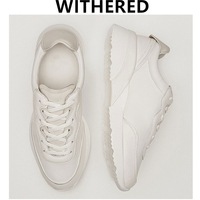 Withered casual Vulcanized shoes women england style Color matching cowhide genuine leather shoes sneakers women shoes woman