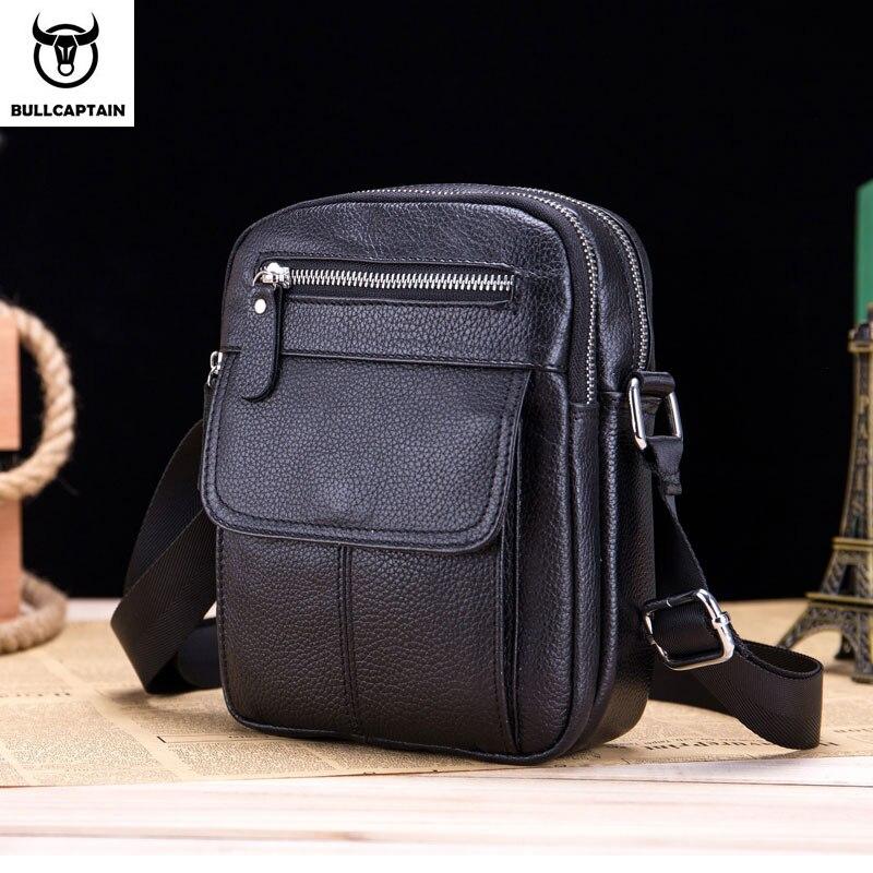 BULLCAPTAIN Men's Tote Bag New Fashion Men's Leather Messenger Bag Men's Messenger Shoulder Business Men's Bag Leather Chest Bag