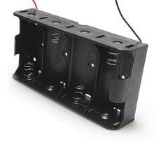 15pcs/lot MasterFire Black Plastic 4 x 1.5V D Wired Spring Loaded 1.5V D Size Battery Batteries Case Box Holder Cover цена
