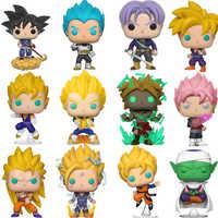 Funko POP Dragon Ball Super Saiyan Goku Vegeta FRIEZA GROßE Anime Abbildung Original PVC Action-figuren Zum Sammeln Modell Spielzeug 2F62