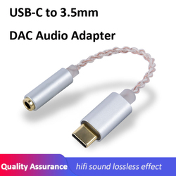 HiFi Digital Audio Type-C DAC Cable Converter USB DAC to 3.5mm AUX Headphone Adapter for Note 10 Pixel 2 3 iPad Pro 2018 Mac PC
