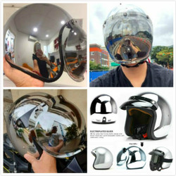 Hot Sell cool Vintage scooter retro helmet motorcycle cruise helmets Chrome Silver Mirror color half open face moto retro helmet