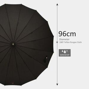Image 5 - Tiohoh 긴 우산 비 여자 남자 일본 스타일 다채로운 골프 우산 브랜드 16K Windproof 파라솔 여성 안티 UV 파라과이